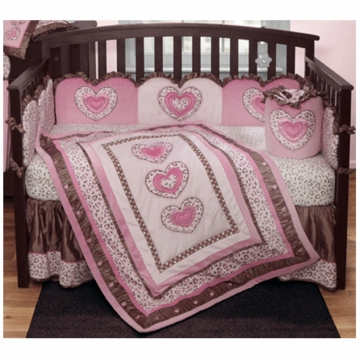 Bananafish Leopard Diva 3 Piece Crib Bedding Set