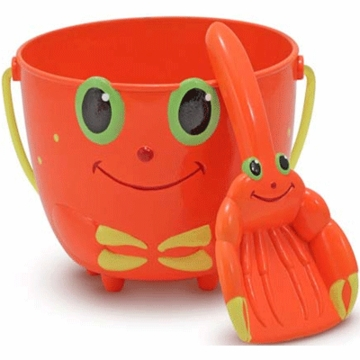 Melissa & Doug Clicker Crab Pail & Shovel