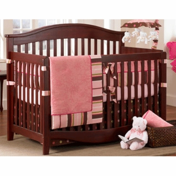 Bananafish Raspberry Truffle 4 Piece Crib Bedding Set