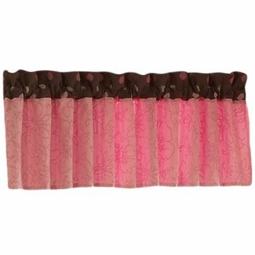 Bananafish Raspberry Truffle Window Valance
