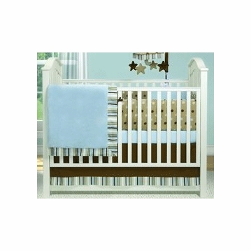 Bananafish Short Latte 3 Piece Crib Bedding Set