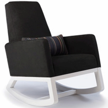 Monte Design Joya Rocker White Base in Black Bonded Leather