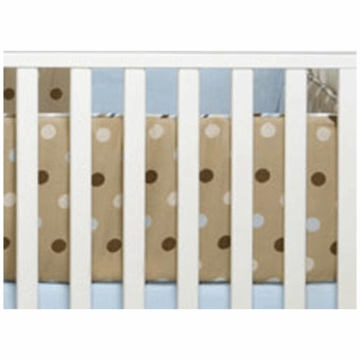 Bananafish Short Latte Crib Bumper