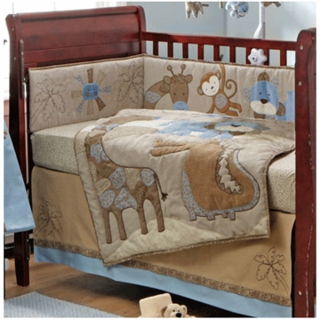 Bananafish Mosaic Jungle 4 Piece Crib Bedding Set
