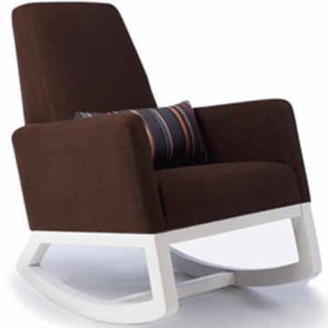 Monte Design Joya Rocker White Base in Brown Bonded Leather