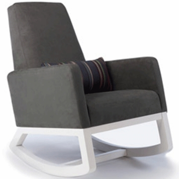 Monte Design Joya Rocker White Base in Charcoal