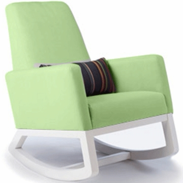 Monte Design Joya Rocker White Base in Lime Green