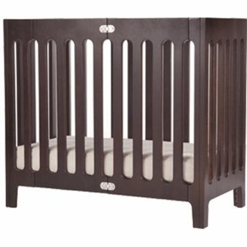 Bloom Alma Mini Urban Crib in Cappuccino