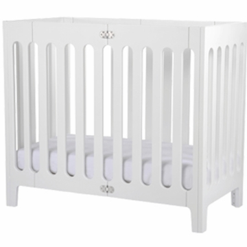Bloom Alma Mini Urban Crib in Coconut White