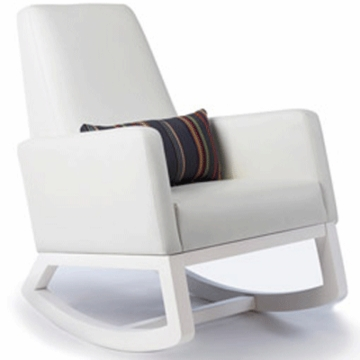 Monte Design Joya Rocker White Base in White Bonded Leather