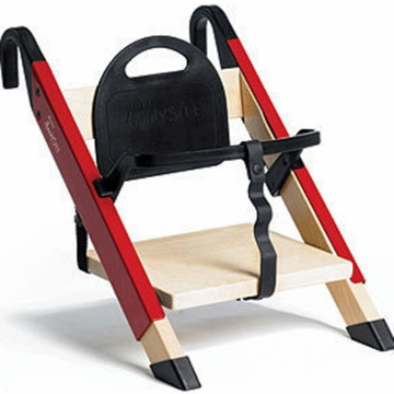 Minui HandySitt High Chair in Birch & Red