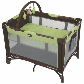 Graco Pack 'N Play  with Bassinet, Fold N Go - Go Green