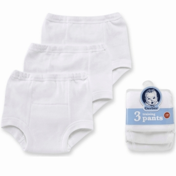 Gerber White 3 Pack Training Pant- 18 Months