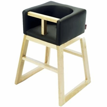 Monte Design Tavo High Chair in Black Bonded Leather