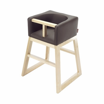 Monte Design Tavo High Chair in Brown Bonded Leather