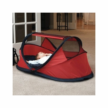 Kidco PeaPod Infant Indoor/Outdoor Travel Bed in Red W/Tie Downs