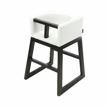 Monte Design Tavo High Chair in White Bonded Leather
