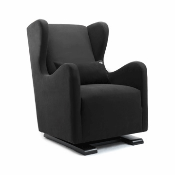 Monte Design Vola Glider in Black Bonded Leather