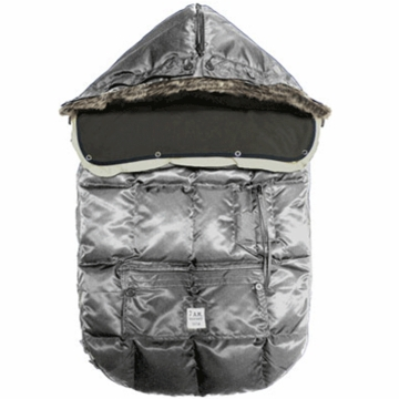 7 A.M. Enfant Le Sac Igloo Small Baby Bunting in Gray