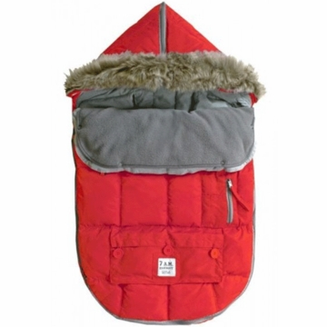 7 A.M. Enfant Le Sac Igloo Medium Baby Bunting in Red