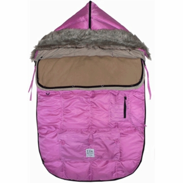 7 A.M. Enfant Le Sac Igloo Medium Baby Bunting in Pink