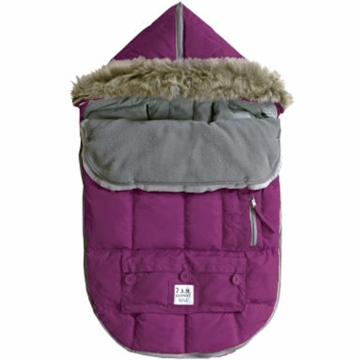 7 A.M. Enfant Le Sac Igloo Medium Baby Bunting in Grape