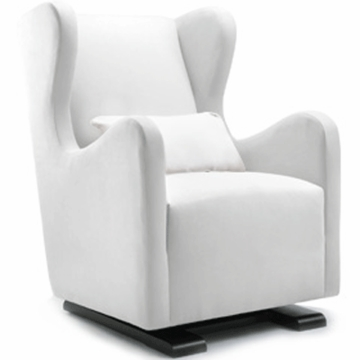 Monte Design Vola Glider in White Bonded Leather