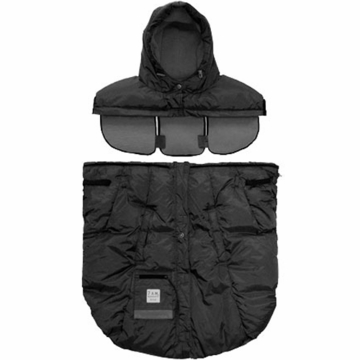 7 A.M. Enfant Pookie Poncho in Black