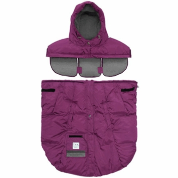 7 A.M. Enfant Pookie Poncho in Grape