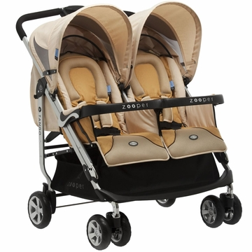 Zooper 2011 Tango Double Stroller in Flax Brown