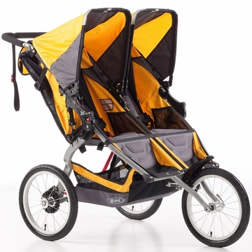 BOB Ironman Duallie Double Stroller - Yellow