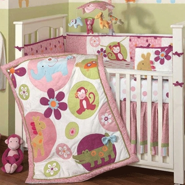 Lambs & Ivy Lollipop Jungle 5 Piece Baby Crib Bedding Set