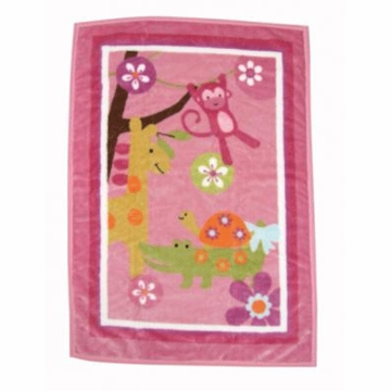 Lambs & Ivy Lollipop Jungle High Pile Blanket