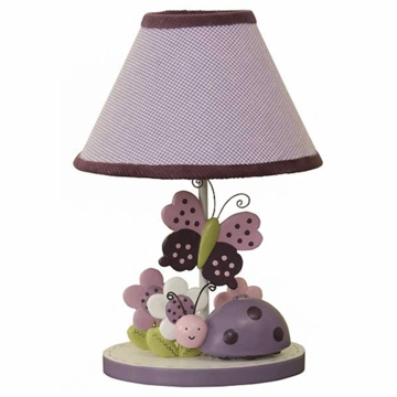 Lambs & Ivy Luv Bugs Lamp with Shade