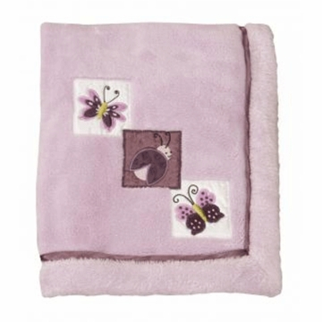 Lambs & Ivy Luv Bugs Plush Blanket with Applique