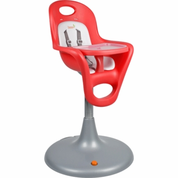 Boon Flair Pedestal Highchair in Cherry Seat & Coconut Pad