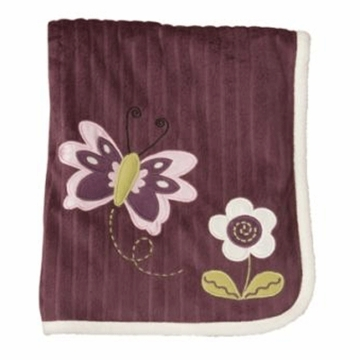 Lambs & Ivy Luv Bugs Ribbed Velour Blanket