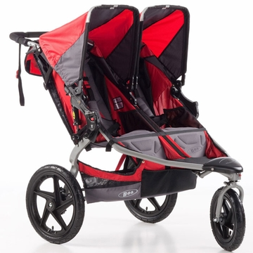 BOB Strides Duallie Fitness Double Stroller - Red