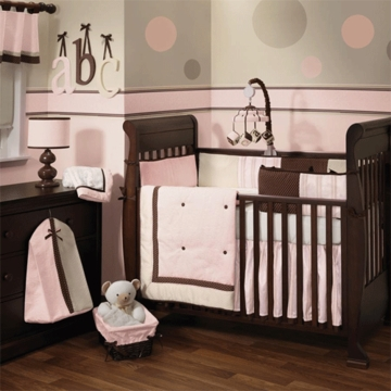 Lambs & Ivy Madison Ave Baby 5 Piece Crib Bedding Set