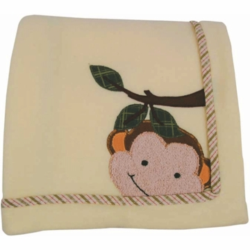 Lambs & Ivy Papagayo Fleece Blanket with Applique