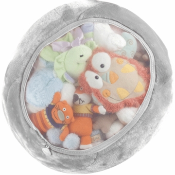 Boon Animal Bag Stuffed Animal Storage in Gray