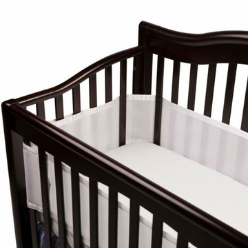 Breathable Baby Breathable Safer Bumper - Fits All Cribs - White