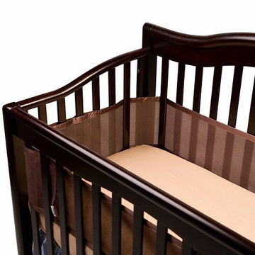 Breathable Baby Breathable Safer Bumper -Fits All Cribs - Brown
