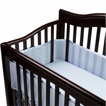 Breathable Baby Breathable Safer Bumper - Fits All Cribs - Blue