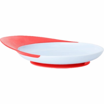 Boon CATCH PLATE With Spill Catcher - Light Purple & Red