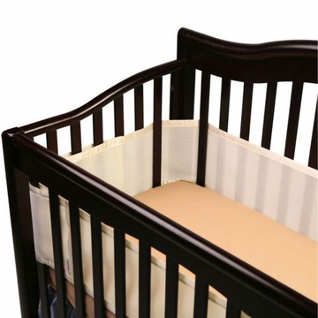 Breathable Baby Breathable Safer Bumper - Fits All Cribs - Ecru