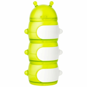 Boon CATERPILLAR STACK Snack Container - Green & White