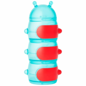 Boon CATERPILLAR STACK Snack Container - Teal & Red