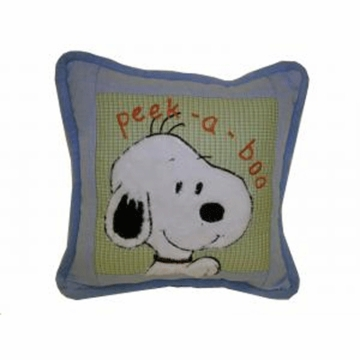 Lambs & Ivy Peek A Boo Snoopy Pillow