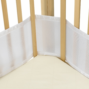 Breathable Baby Breathable Bumper for Portable & Cradle Cribs - White